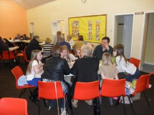 Thinking caps on at the Curry and Quiz night!